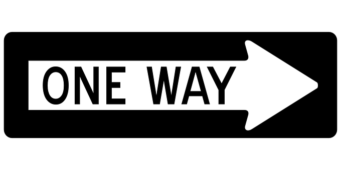 Arrow, One Way, Right, Sign, Road